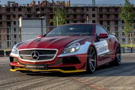bagged mercedes cls wide body kit for mercedes sl r230 sr66 design body kits