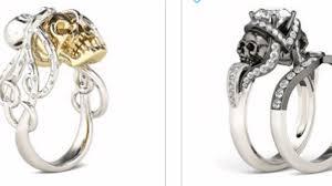 skull engagement rings pretty skull engagement skull engagement rings jewelry on jeulia