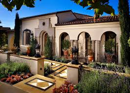 Mediterranean Style Mansions Beautiful Arched Walkways Lead Out Onto A Bold Diamond Patterned