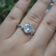 cz engagement ring buy sterling silver cz engagement ring cz solitaire engagement