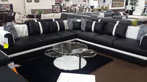modern black and white leather sectional sofa 2018 popular black and white sectional sofa
