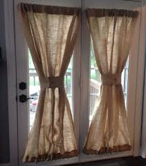 Curtains For French Doors In Kitchen by Decorating Make Your Home More Beautiful With Burlap Curtains For
