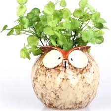 retro owl shape large ceramic decorative flower pots nursery
