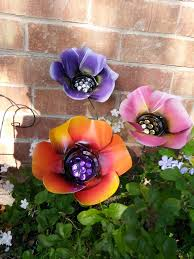 Poppy Flower Garden by Metal Flowers Colorful Poppy Flowers Metal Art Metal Garden