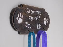 personalized leash holder u2013 dog paw sign u2013 leash organizer u2013 pet