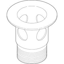 delta 2 1 8 in metal drain flange for bathroom sinks in brushed