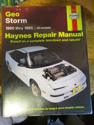 new haynes repair manual geo storm 1990 1993 40030 auto mechanic
