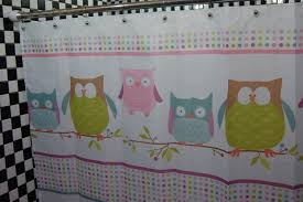 Cute Bathroom Sets by Bathroom Sweet Decorative Shower Curtains With Colorful Owl