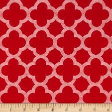 riley blake sparkle quatrefoil red from fabricdotcom designed by