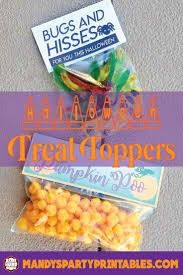 free printable halloween treat bag labels bugs u0026 hisses treat bag toppers via mandy u0027s party printables