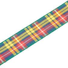 tartan ribbon buchanan tartan ribbon 25mm by 5m polyester ribbon the
