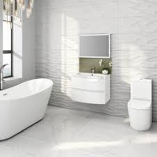 Gloss White Vanity Unit 700mm Amelie High Gloss White Curved Vanity Unit Soak Com