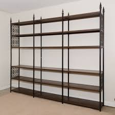 Iron And Wood Bookcase Antique Shelving And Vintage Storage Units Ebth