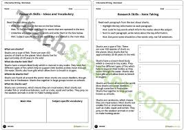 research skills note taking lesson plan u2013 teach starter