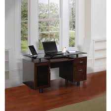 Z Line Designs Computer Desk Z Line Designs Hudson Executive Double Pedestal Desk Rich Cherry