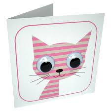 wobbly eyed stripey cat card by stripeycats notonthehighstreet