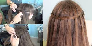 step by step twist hairstyles how to make beautiful waterfall twist hairstyle see step by step