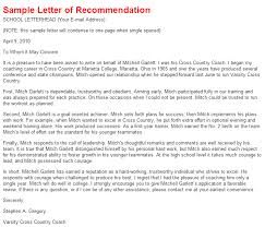 ideas collection letter of recommendation sample exchange program