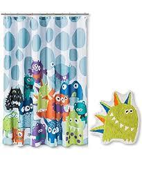 Circo Rugs Amazon Com Circo Monsters Shower Curtain And Bath Rug Set Home