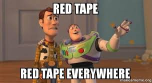 Meme Tape - red tape red tape everywhere buzz and woody toy story meme
