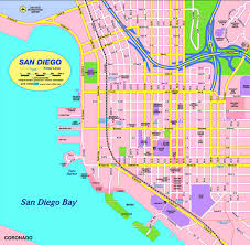 Map San Diego Kalifornien Landkarte Strassenverzeichnis Stadtplan Map
