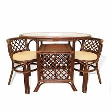 Wicker Dining Room Chairs Indoor Rattan Dining Room Table And Chairs