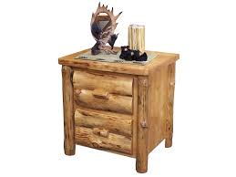 Rustic Pine Nightstand Rustic Bedrooms U2013 Greenawalt Furniture