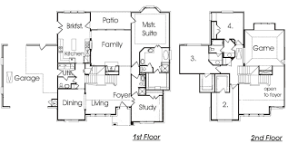 ideas about front to back split house plans free home designs
