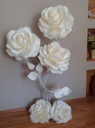 bouquet en papier set of 7 large paper flowers paoer kwaves and by miogallery