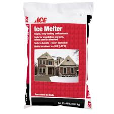 ice melt snow and ice melter at ace hardware