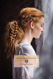 hairstyles for day old curls boho braided hairstyle diy ponytail hair make up and make up