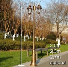 used aluminum light pole for sale american european style street lighting garden outdoor post light