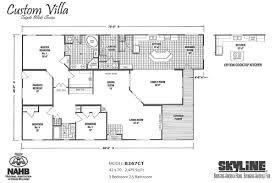 3 Bedroom Villa Floor Plans by Skyline Homes Of San Jacinto