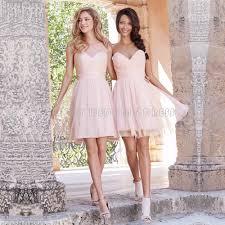 light pink dama dresses short light pink bridesmaids dress scalloped pleat tulle short