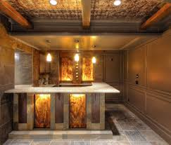 Floating Bar Cabinet Bar Natural Ash Wooden Home Bar Mixed With Floating Glass Door