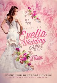 wedding flyer wedding after flyer psd template psd file free