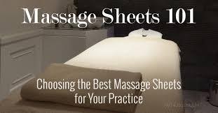 massage table sheet sets 101