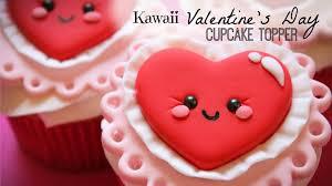 Valentine S Day Cake Decoration Ideas kawaii valentine u0027s day cupcake topper youtube