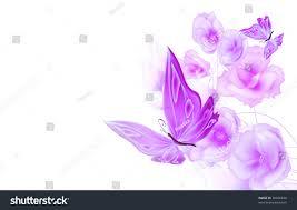 butterflies flowers background stock illustration 50446678