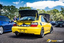 subaru yellow subarus rally together for a wicked big meet u2013 front street media