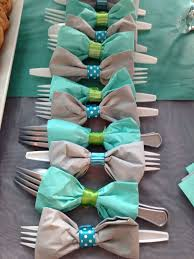 bow tie baby shower bow tie themed cutlery tiarawishesprincessparties
