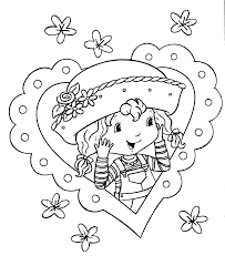 coloring pages for girls strawberry shortcake coloring pages