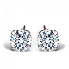 stud earrings simple cz white 925 sterling silver stud earrings 4mm 5mm