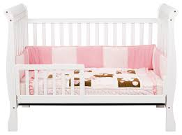 Crib Converts To Toddler Bed Davinci 3 In 1 Convertible Crib In White M7301w