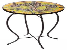 Mosaic Accent Table Mosaic Accent Table Outdoor Awesome Fleur Lis Faux Tile Patio