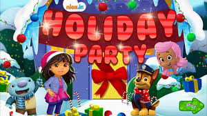 nick jr u0027s holiday party dora the explorer bubble guppies team