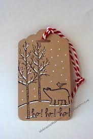 invisiblepinkcards christmas tag using stampin u0027 up white