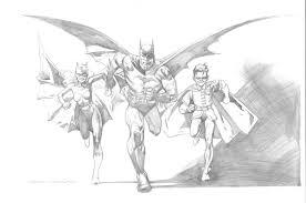 kevin nowlan batman family pencil drawing 2001