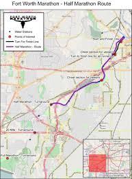 fort worth map 2017 fort worth marathon 20 mile and 1 2 marathon race