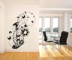 vinyl wall decal sticker flower butterfly swirl 1011